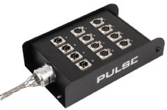 PRO SIGNAL PSG01424  12 Way (8/4) Loaded Xlr Stage Box